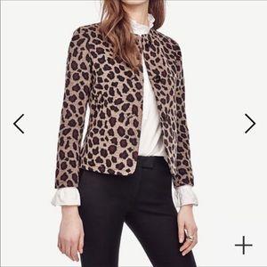 Ann Taylor Leopard Print Jacket